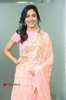 Actress Ritu Varma Pos in Beautiful Pink Anarkali Dress at at Keshava Movie Interview .COM 0023.JPG