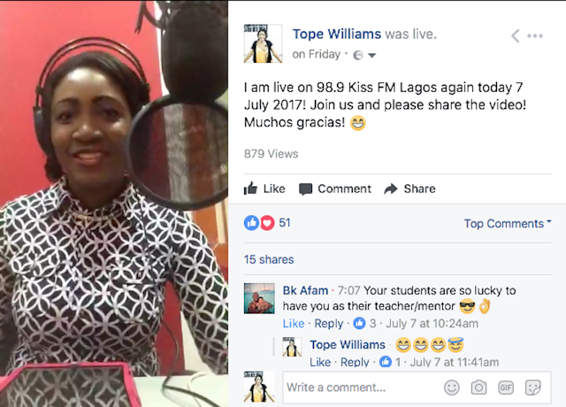 And we were live on Facebook :-D  Enjoy the live feed of Martwayne on 98.9 Kiss FM Lagos on 7 July 2017