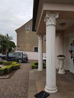 Stucksaulen Gips Eingangsbereich kaputt erneuern Portikus