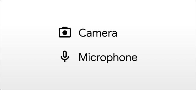 أيقونات الكاميرا والميكروفون android