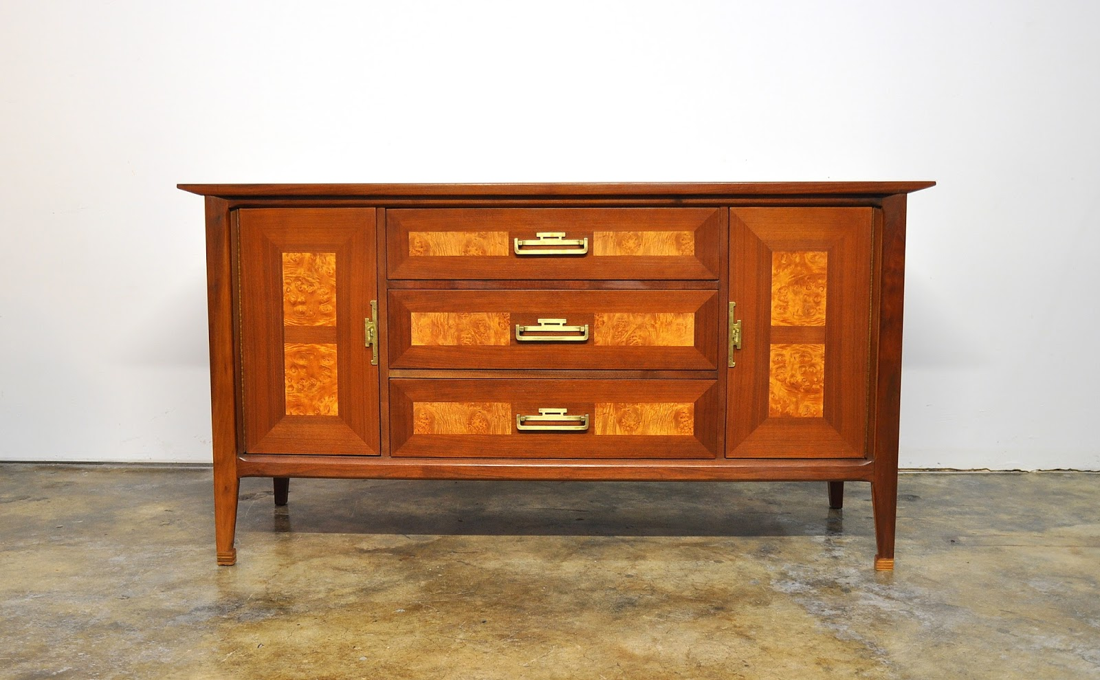 Select Modern James Mont Style Credenza Bar Buffet