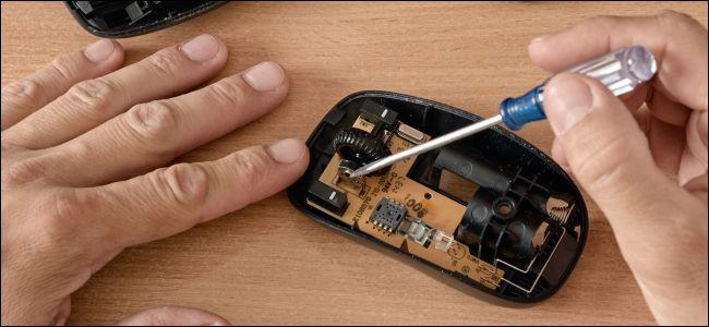 إصلاح الأجزاء الداخلية من فأرة الكمبيوتر