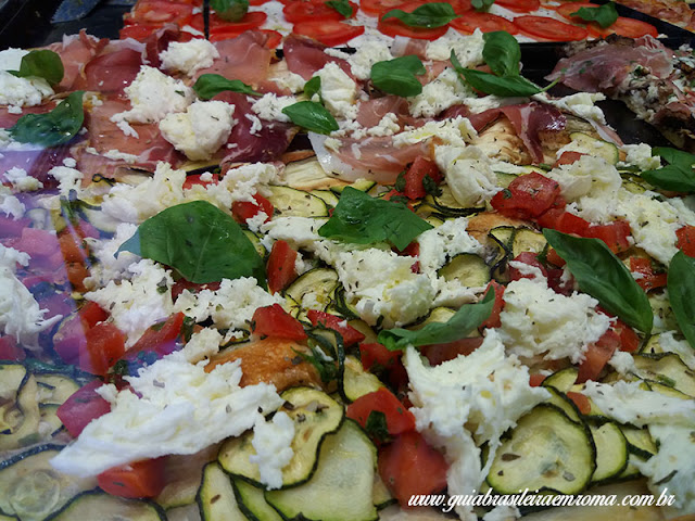 pizzas trastevere roma presunto mozzarella - A melhor pizzeria quilo de Trastevere