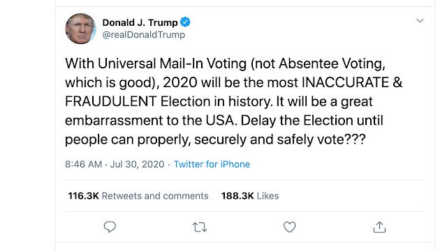 Trump tweets delay 2020 US Presidential election, USD Index Sinks Below 93.00 sending EUR/USD Above 1.1800