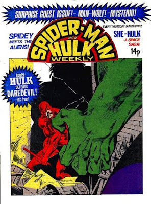 Spider-Man and Hulk Weekly #412, Daredevil vs Hulk