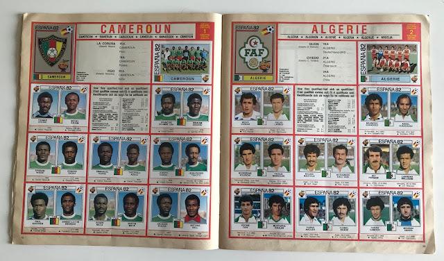 Figurine doppio calciatore Spagna 82