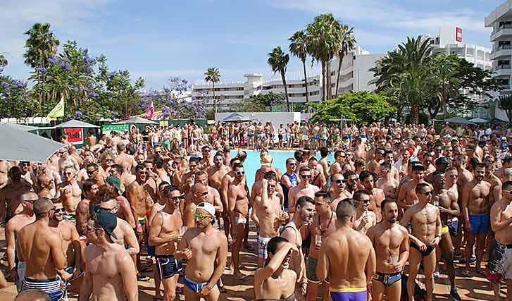 Fiesta de sodomitas en Maspalomas Gay Pride