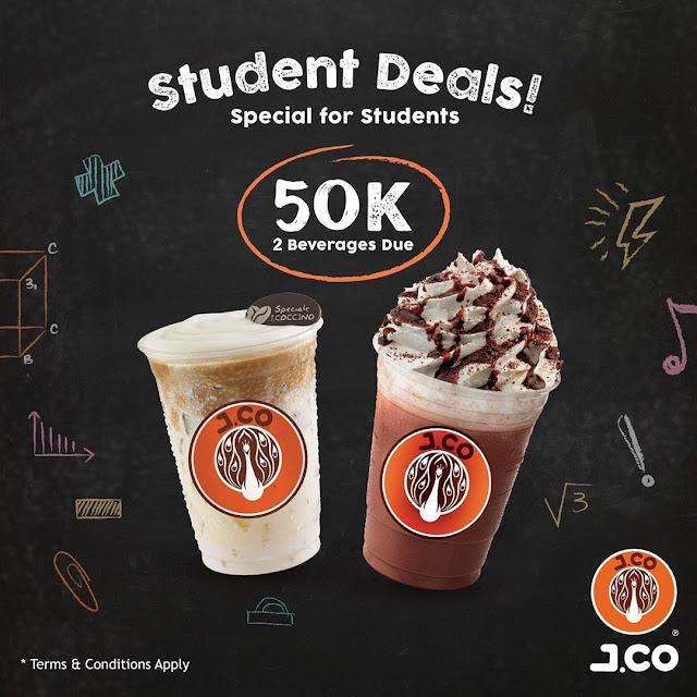 #JCO - #Promo Student Deal Beli 2 Minuman Cuma 50K di JWalk Jogya (s.d 15 Sept 2019)