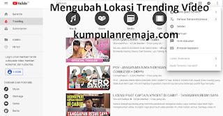 Cara Mengubah Lokasi Video Trending Pada Aplikasi Youtube