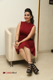 Telugu Tollywood Anchor Manjusha Pos in Red Short Dress  0122.JPG
