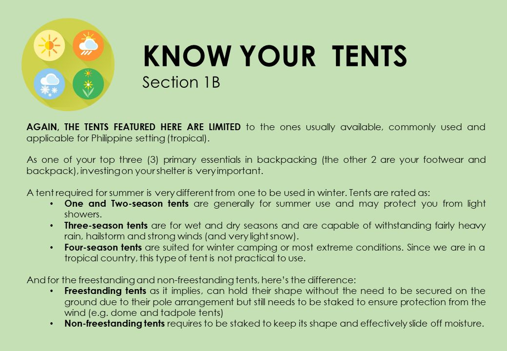 Know Your Camping Tents
