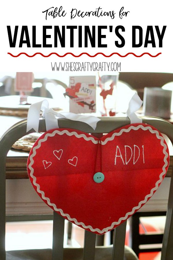 easy and inexpensive ways to decorate your table for Valentine's Day, personalized place settings
