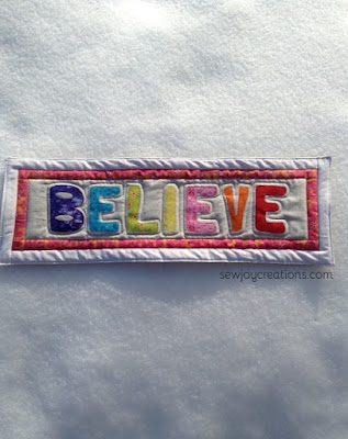 Believe Word of the Year quilted mini