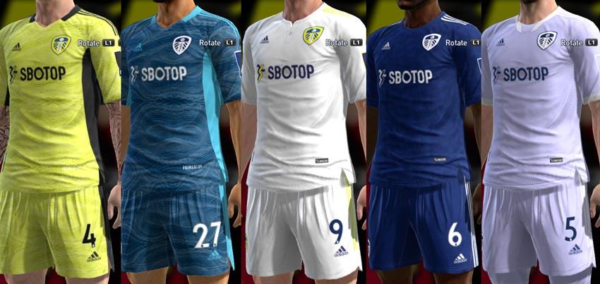 Leeds United 2021-2022 Kits For PES 2013