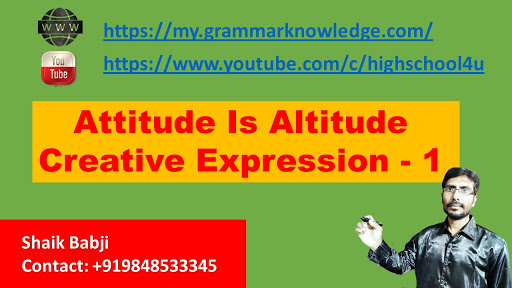 Attitude Is Altitude  Creative Expression