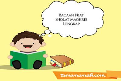 Lafaz Bacaan Niat Sholat Maghrib Lengkap Bahasa Arab Latin