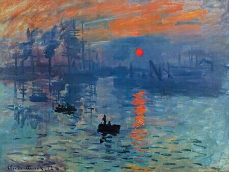 Claude Monet, Impression, Sunrise, 1872