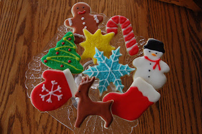 Sugar cookies iced for the Holidays