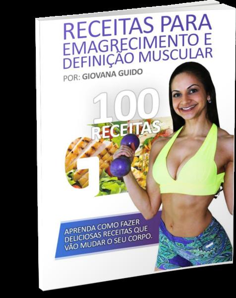 capa do livro Receitas Para Emagrecimento e Definição Muscular