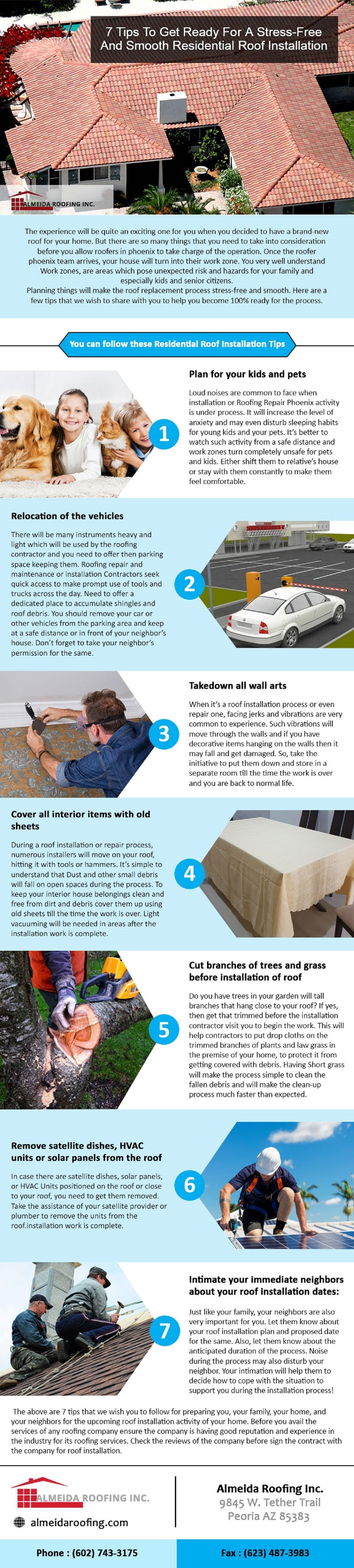 7 Tips To Get Ready For A Stress Free Roof Installation #infographic