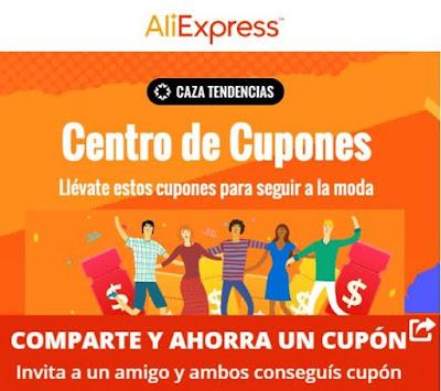 Novedades en el centro de cupones de Aliexpress