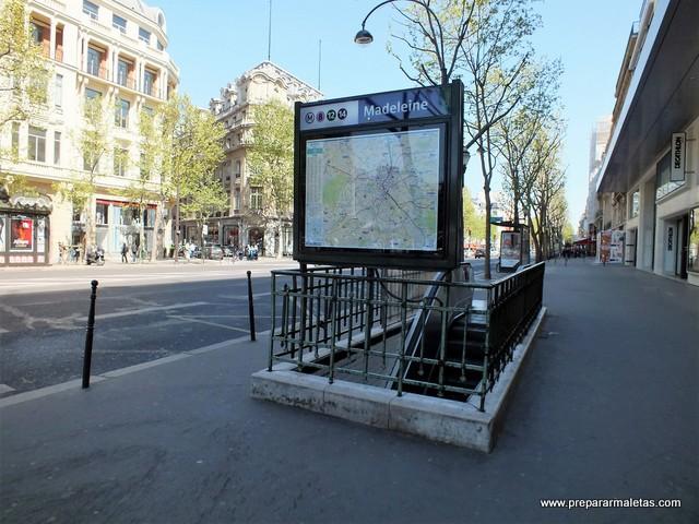 estaciones del metro de París