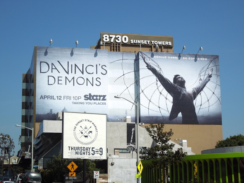 DaVincis Demons series premiere billboard