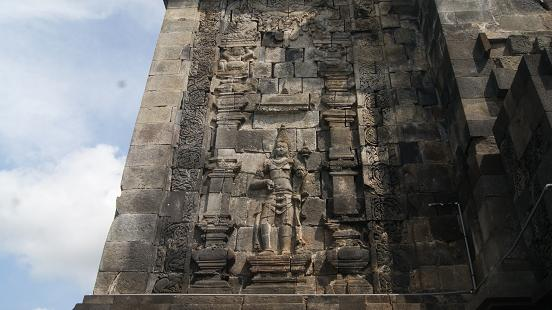 Reliefs on the walls of Mendut Temple