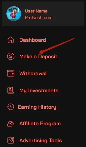 Создание депозита в OctoBit