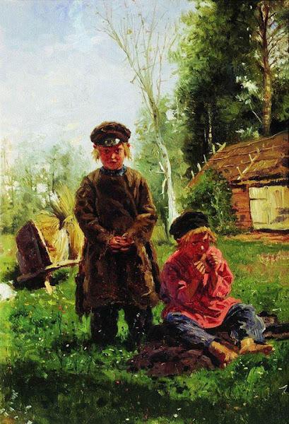 Маковский Владимир Егорович - Крестьянские мальчики. 1880