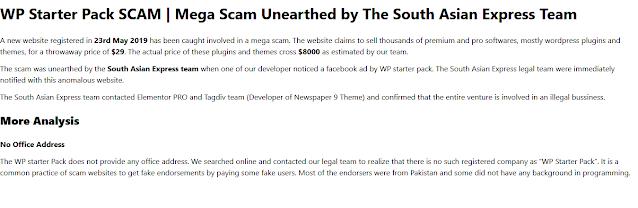 Hati-hati Beli Tema dan plugin di Wpstarterpack.com, Scam dan Penipu
