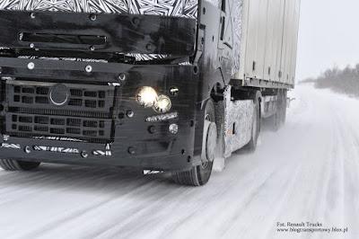 Zimowe testy nowej gamy ciężarówek Renault