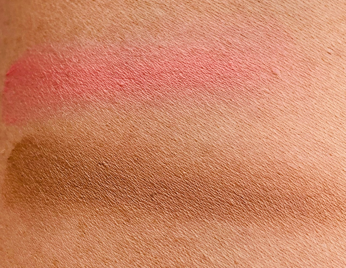 Fenty Beauty cream cheek products - worth the hype?, Fenty Macchiato Swatch, Fenty Petal Poppin Swatch