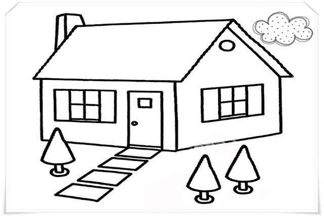 Contoh Gambar Rumah Sederhana Anak Sd