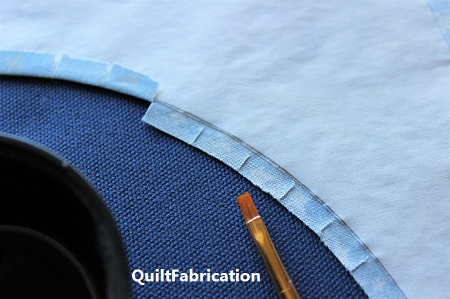 starch in the seam allowance for pressing a smooth curve