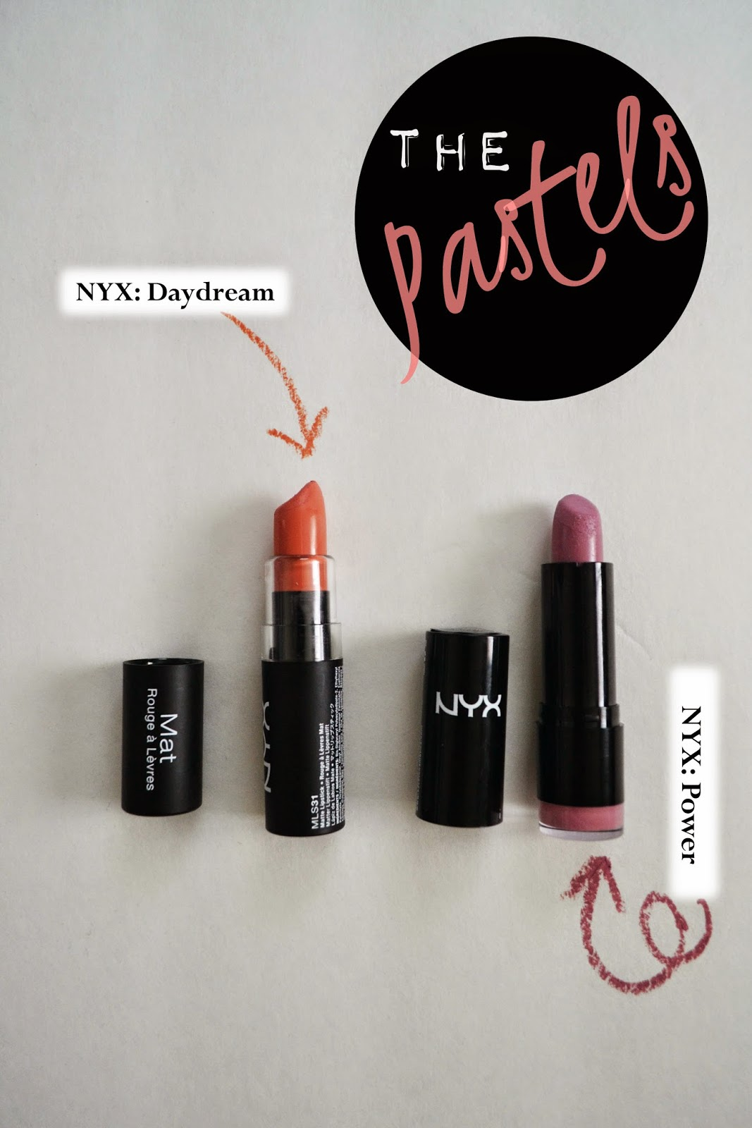 NYX Daydream and Power Lipstick
