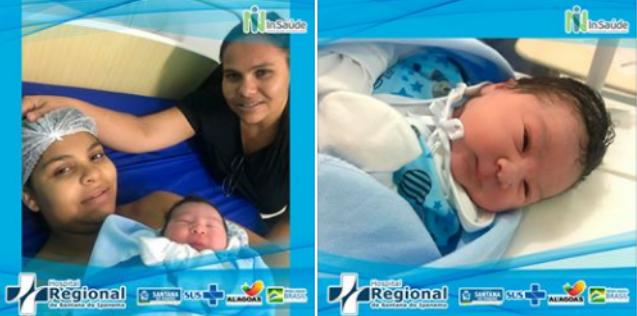 Primeiro bebê nascido em 2020 no Hospital Regional de Santana do Ipanema  é um menino, mãe do bebê é moradora de Delmiro Gouveia