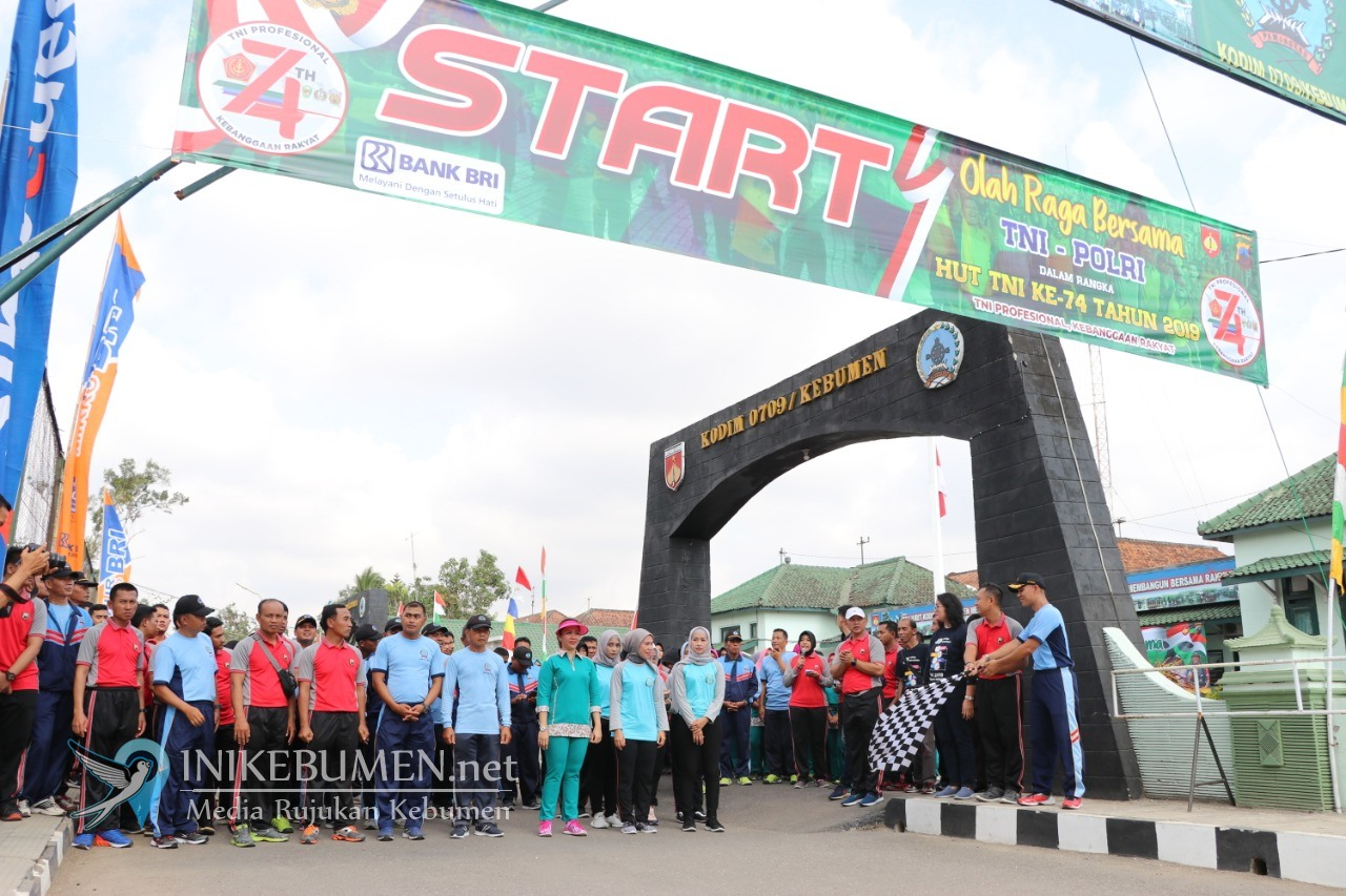 Meriahkan HUT ke-74 TNI, Kodim dan Polres Kebumen Gelar Olahraga Sinergitas