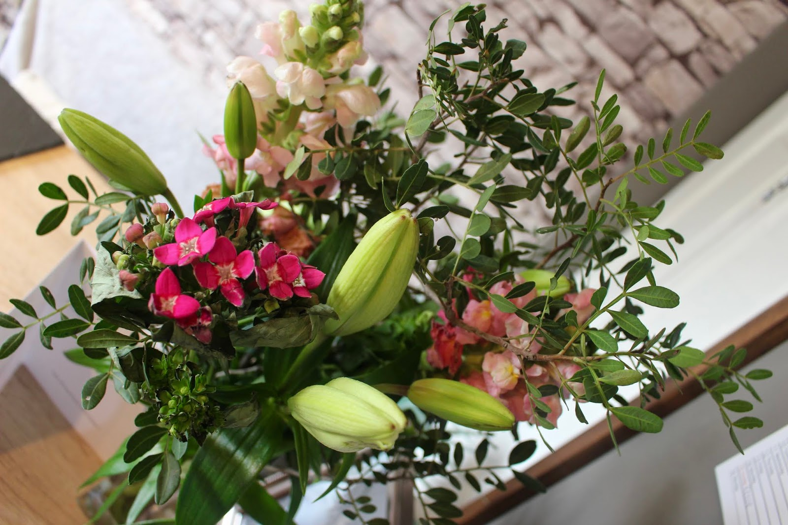 Mothers day flowers from Moonpig.