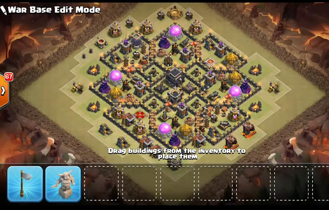 Th9 War Base 2017 With Bomb Tower Anti Everything Anti Valkyrie Anti 2 Star Anti 3 Star