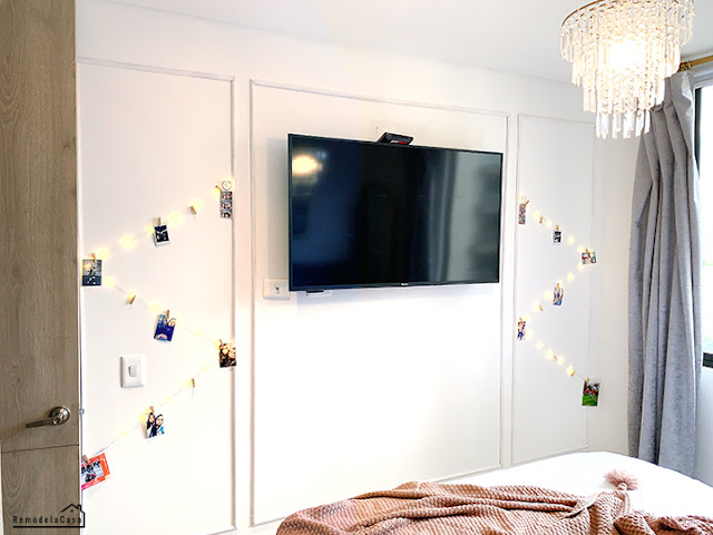 tv wall in small bedroom apartment