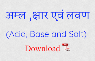 Acid Base and Salt