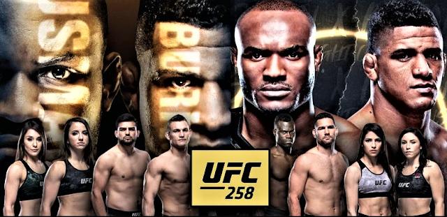 شاهد نزال  كامارو عثمان وغيلبرت بورنز بث مباشر UFC258
