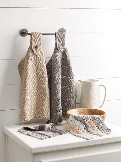Knitting Patterns Kitchen Set Dish Towels Dishcloths