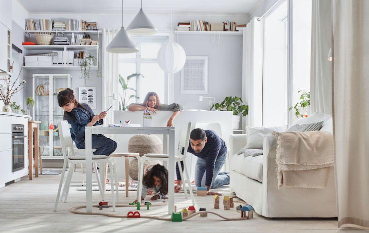Salones nuevo catálogo IKEA 2021: salón estilo nórdico.