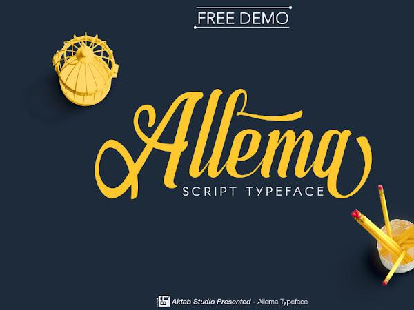 Allema Script Font Free Download