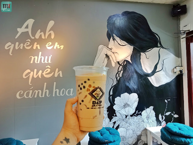nhung mau tranh tuong re dep danh cho quan tra sua, cafe