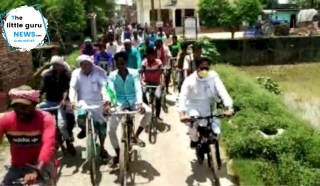 Narkatiya mla cycle rally 2020