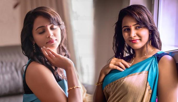 Actress Subiksha in Saree Photos | Actress Subiksha Instagram Photos
