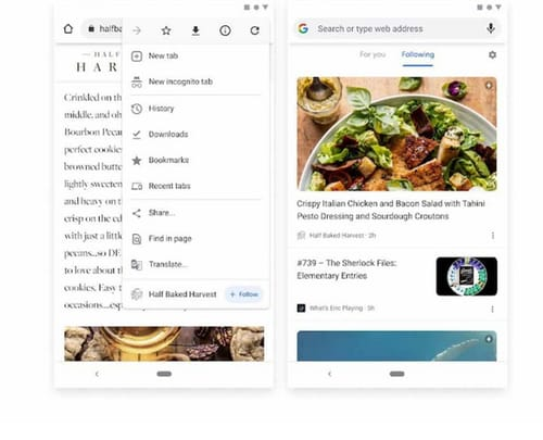 Google rediscovers RSS with the follow the site function